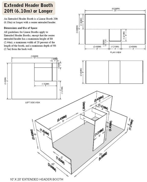 Extended Header Booth Diagram