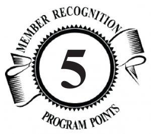 5 Member Recognition Points Logo
