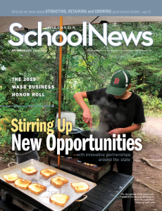 Cover of the December 2019 issue of Wisconsin School News