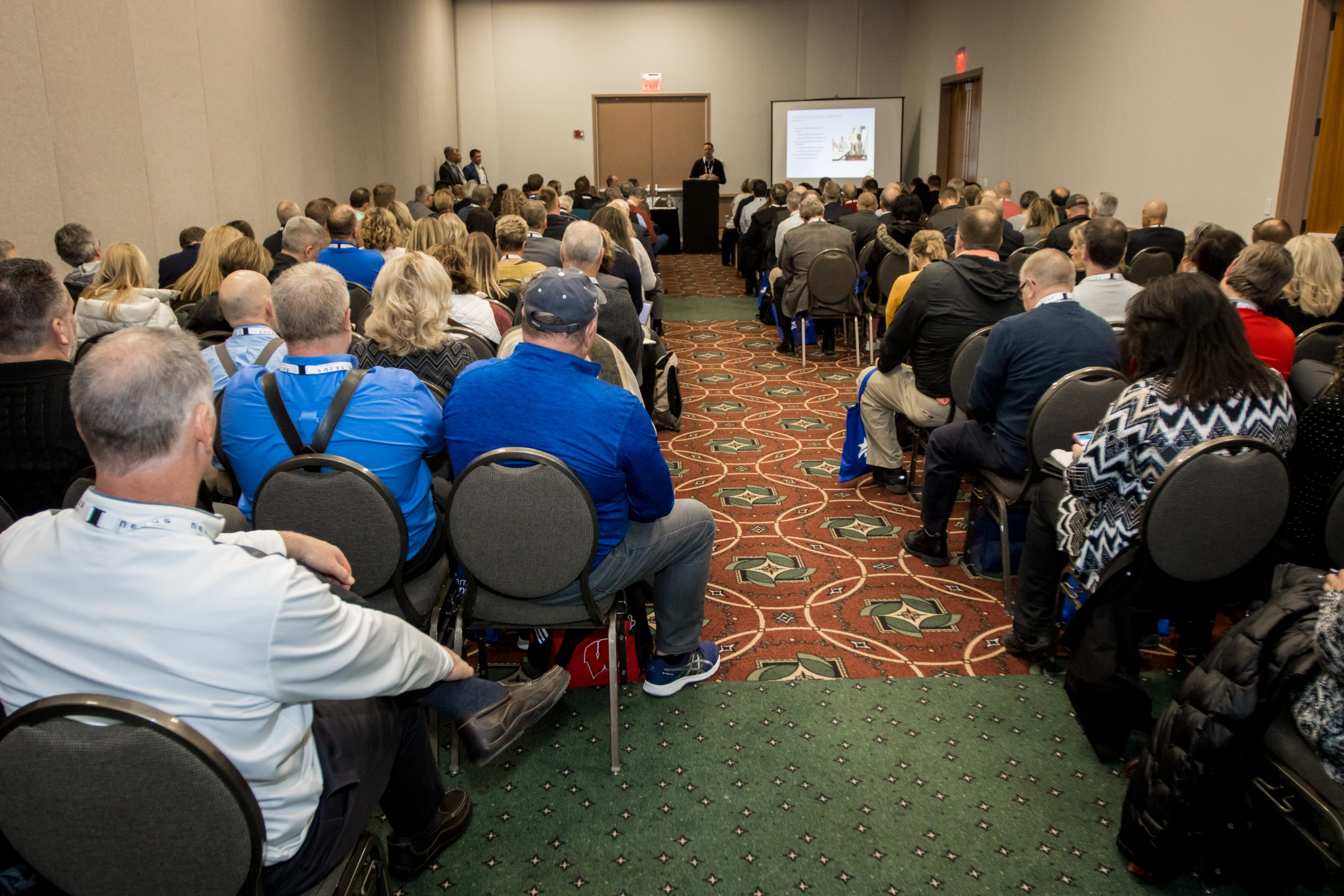 State Education Convention attendees listen to a breakout session.