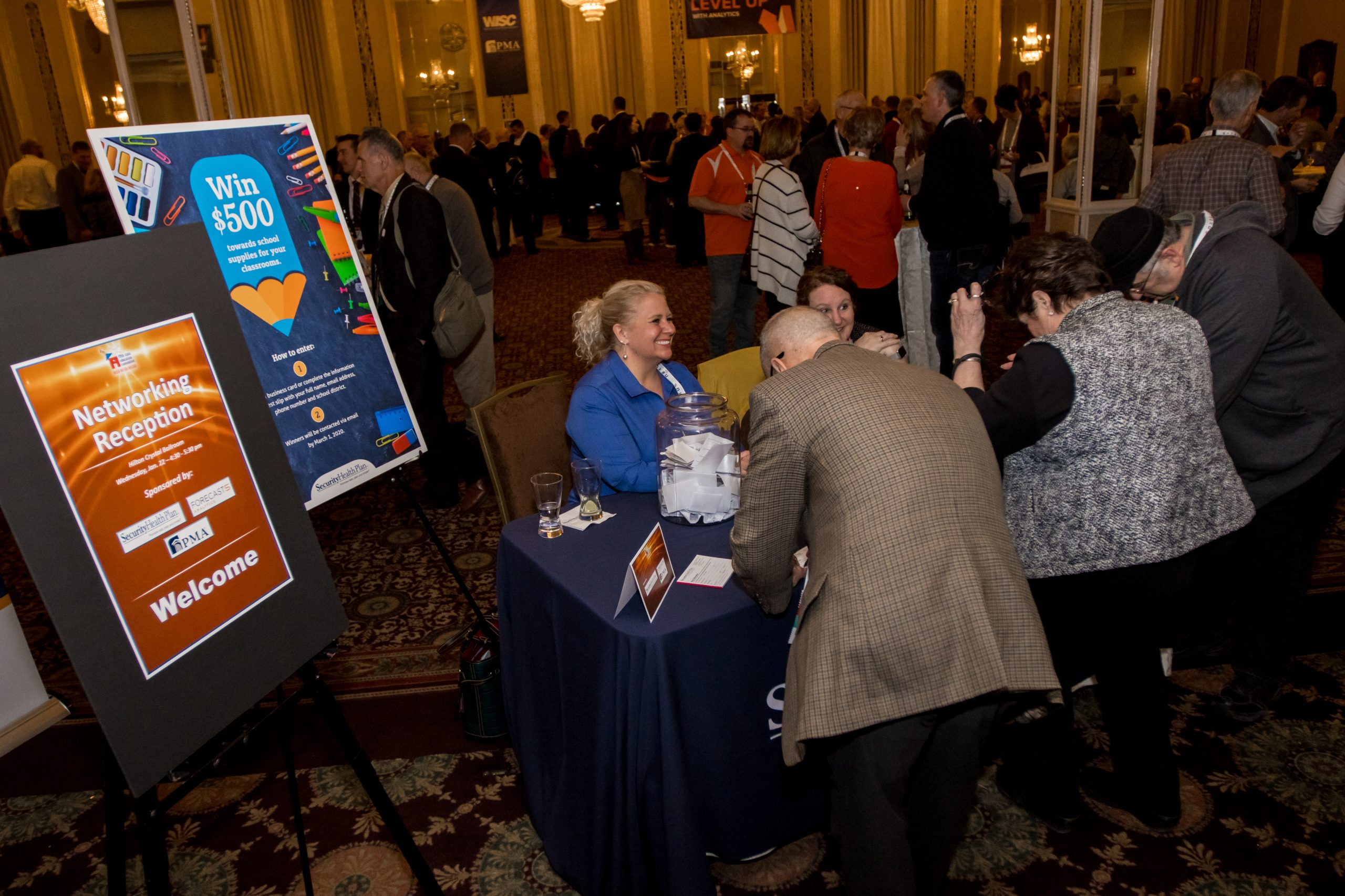 The Networking Reception allows convention attendees to mingle.