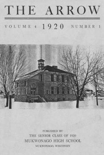 Image Mukwonago 1920 Yearbook Cover