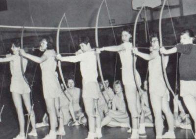 Image: Wausau East HS 1960 Girls Archery