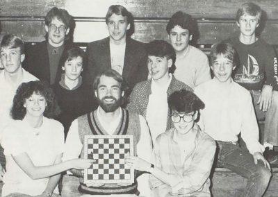 Image Wausau East High School Chess Club, 1986